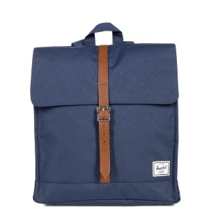 Herschel Sac à dos City Mid-Volume navy/tan [ Promotion Black Friday Soldes ]