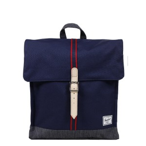 Herschel Sac à dos City Mid-Volume Offset peacoat/dark denim | Pas Cher Jusqu'à 20% - 80%
