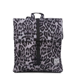 Herschel Sac à dos City Mid-Volume snow leopard/ black [ Promotion Black Friday Soldes ]