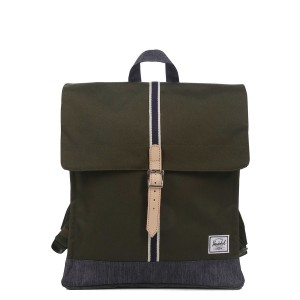 Herschel Sac à dos City Mid-Volume Offset forest night/ dark denim [ Promotion Black Friday Soldes ]