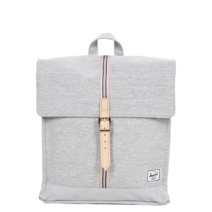 Herschel Sac à dos City Mid-Volume Offset light grey crosshatch/high rise [ Promotion Black Friday Soldes ]