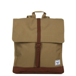 Herschel Sac à dos City Mid-Volume kelp/saddle brown [ Promotion Black Friday Soldes ]