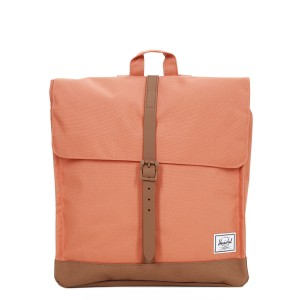 Herschel Sac à dos City Mid-Volume apricot brandy/saddle brown [ Promotion Black Friday Soldes ]