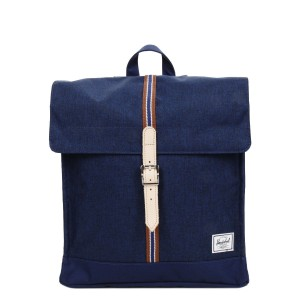 Herschel Sac à dos City Mid-Volume Offset medieval blue crosshatch/medieval blue [ Promotion Black Friday Soldes ]