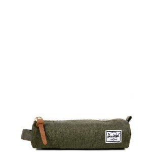 Herschel Trousse Settlement Case X-Small olive night crosshatch/olive night [ Promotion Black Friday Soldes ]
