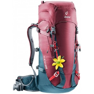 Deuter Sac à Dos d'Alpinisme - Femme - Guide Lite 28 SL Bordeaux/Bleu Arctique [ Promotion Black Friday Soldes ]