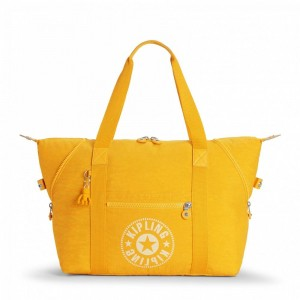 Kipling Sac Cabas Medium avec 2 Poches Frontales Lively Yellow