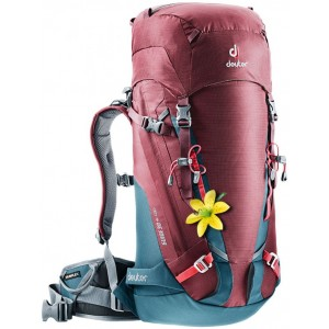 Deuter Sac à Dos d'Alpinisme - Femme - Guide 30+ SL Bordeaux/Bleu Arctique [ Promotion Black Friday Soldes ]