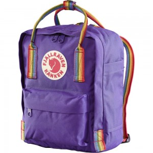 FJALLRAVEN Kånken Rainbow Mini - Sac à dos - violet Violet [ Promotion Black Friday Soldes ]