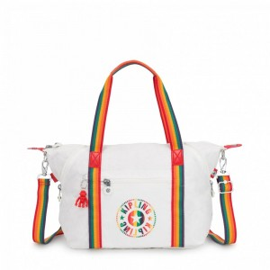 Kipling Sac Cabas avec Sangle Détachable Rainbow White