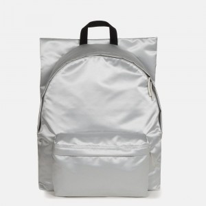 Eastpak Raf Simons Poster Padded Satin Punk Silver [ Promotion Black Friday Soldes ]