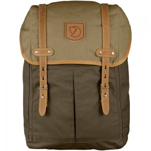 FJALLRAVEN No.21 - Sac à dos - Medium marron/olive Marron [ Promotion Black Friday Soldes ]