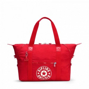 Kipling Sac Cabas Medium avec 2 Poches Frontales Lively Red