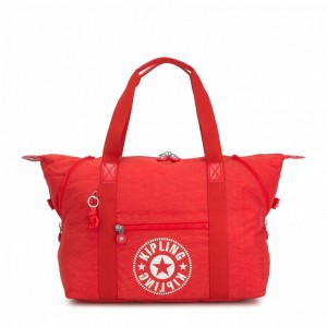 Kipling Sac Cabas Medium avec 2 Poches Frontales Active Red NC