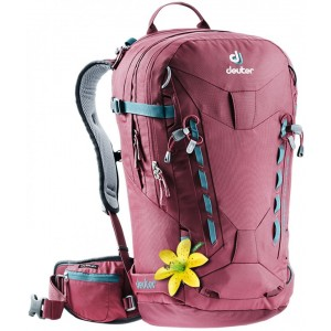 Deuter Sac à Dos de Ski/Snowboard - Femme - Freerider Pro 28 SL Bordeaux [ Promotion Black Friday Soldes ]