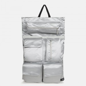 Eastpak Raf Simons Poster Backpack Satin Couple White [ Promotion Black Friday Soldes ]