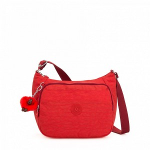 Kipling Sac à Main Imprimé avec Sangle Extensible Active Red