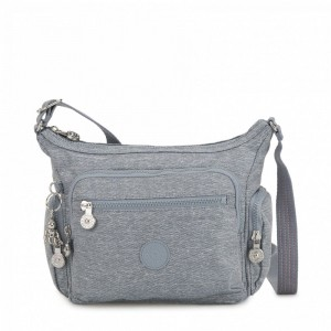 Kipling Petit sac bandoulière à compartiments multiples Cool Denim